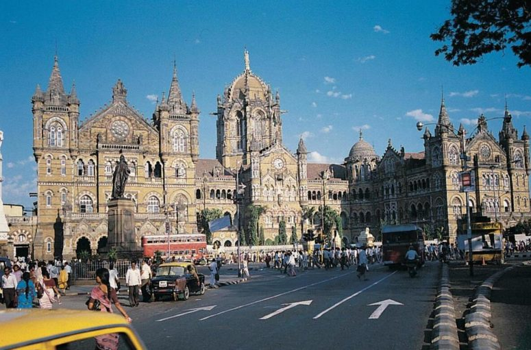 The Mumbai train station, Victoria Terminus