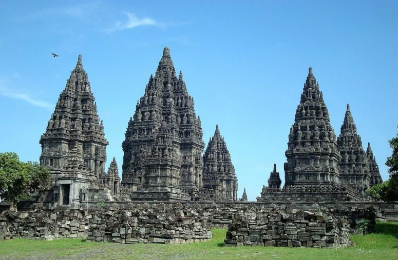 The Hindu temple of Prambanan in Java