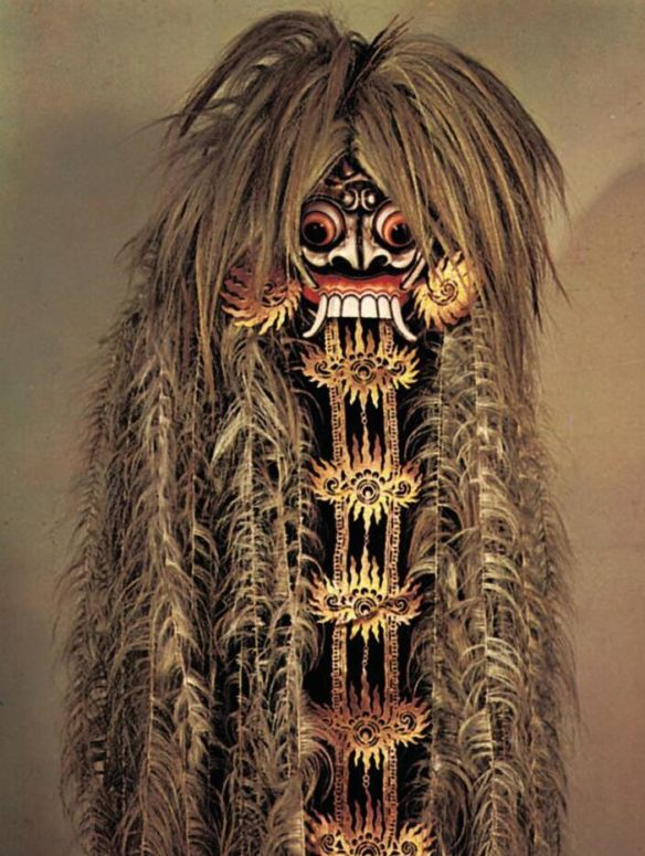 Demon mask from the 19th century. Royal Institute of the Tropics, Amsterdam.