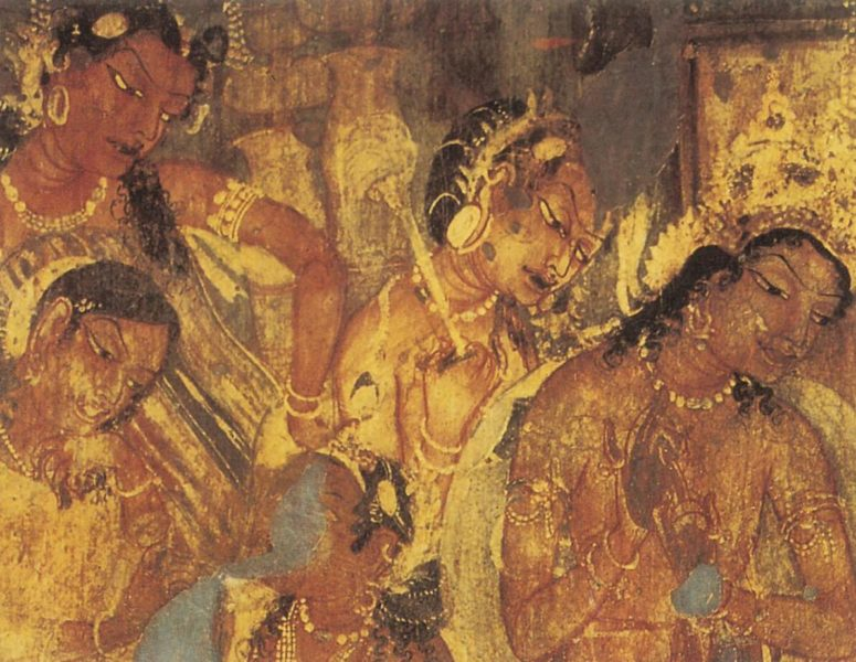 Buddhist cave paintings from Ajanta, 500 AD