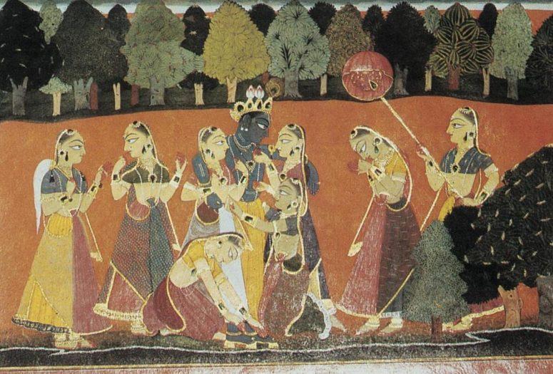 Scene from a Krishna legend