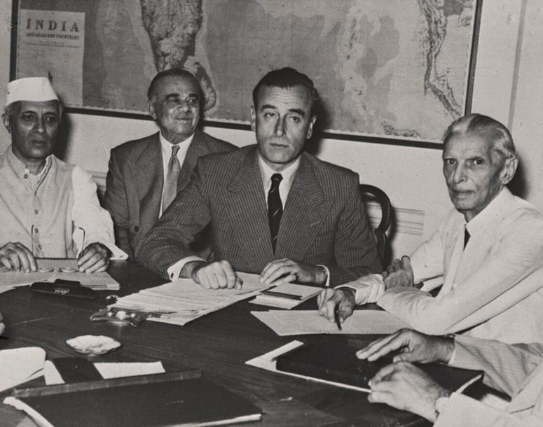 The British Vice King of India, Lord Mountbatten