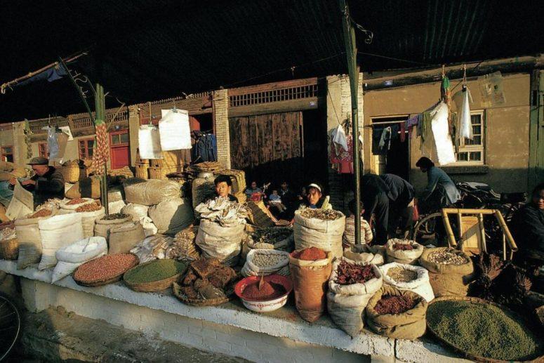 Spice market in Chengdu