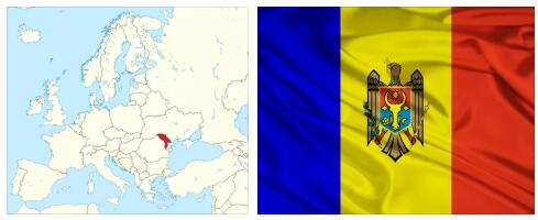 Moldova Flag and Map