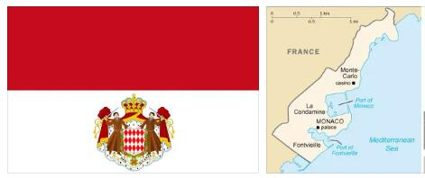 Monaco Flag and Map