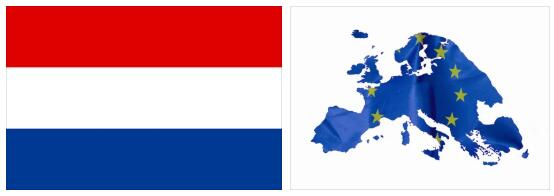 Netherlands Flag and Map