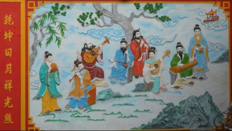 Wall decoration in Chinese temple
