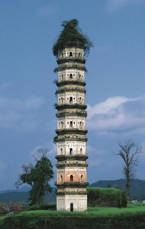 An ancient seven storey pagoda in Anhui Province. It was built in 1545