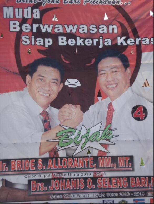Election poster for the election of a district head