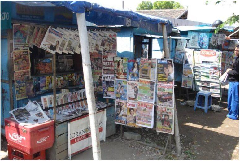 Magazine stand in Yogyakarta