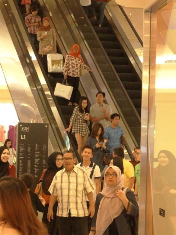 Shopping mall in Medan