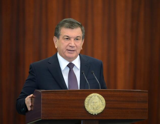 Uzbekistan Interim President Shavkat Mirziyoyev