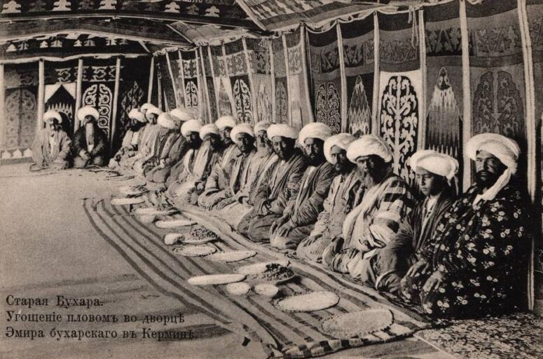 Hospitality for dignitaries at the court of the Emir of Bukhara