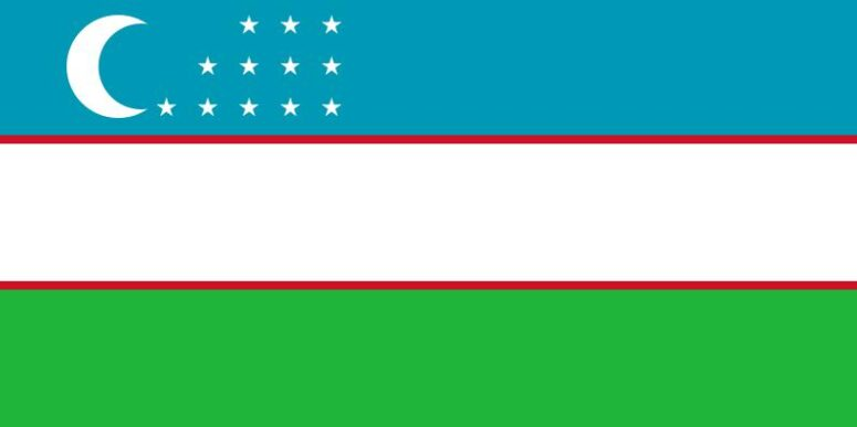 Uzbekistan State flag